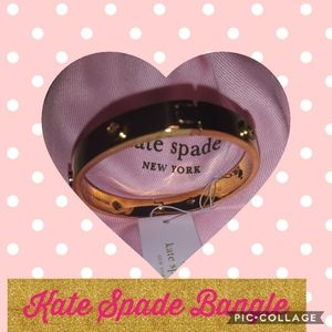 Kate Spade gold overlay bangle bracelet NWT